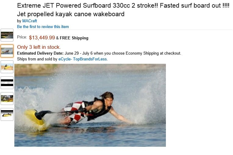 Extreme Hison Jet Surfboard - Fastest Board