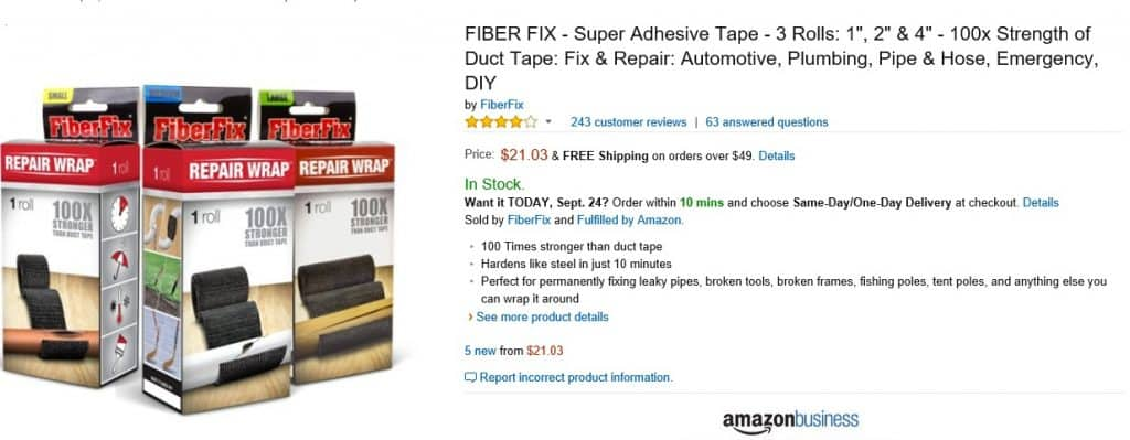 FiberFix Repair Wrap as seen on Shark Tank