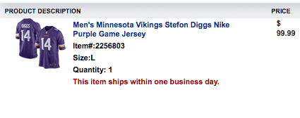 Stefon Diggs Jersey