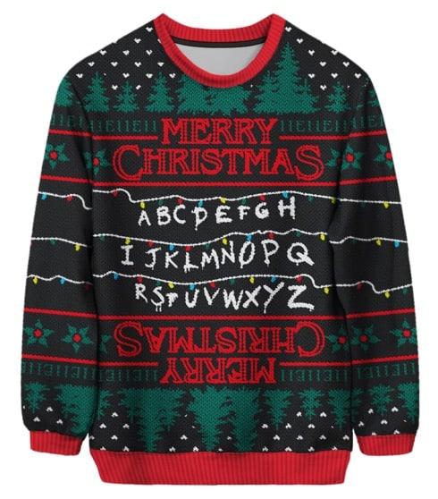ugly xmas sweater netflix stranger things