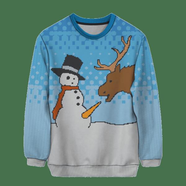 snowman blowjob christmas sweater