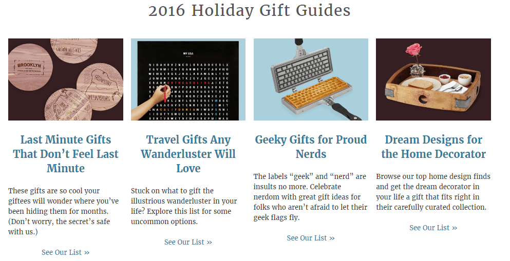gift guides for uncommon goods