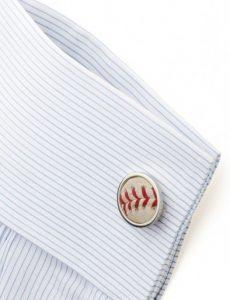 game used baseball cufflink