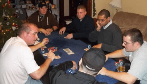 manly things to own - poker table and chips