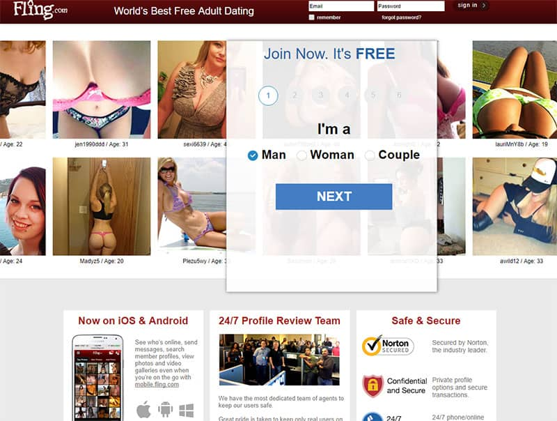 fling.com website screenshot