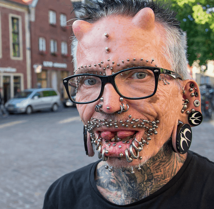Who is the Most Pierced Man in the World?