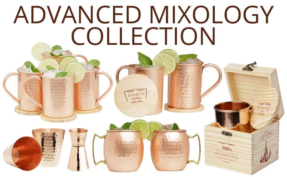 copper barware products from Advanced Mixology