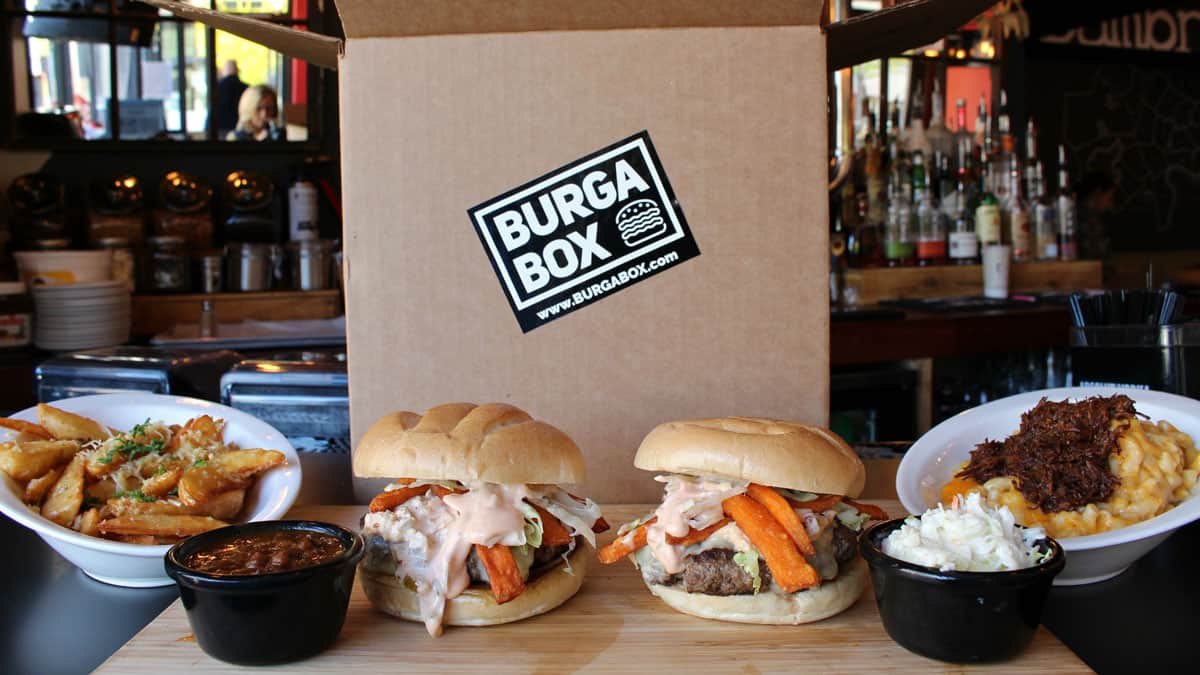hamburgers and sides from BurgaBox