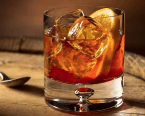 an old fashioned Thanksgiving mixed drink
