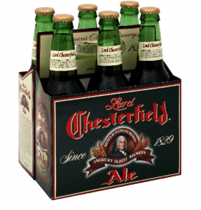 a sixpack of lord chesterfield ale