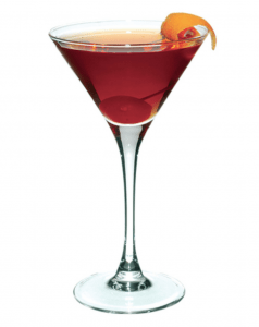 enjoy drinks for Thanksgiving like this Manhattan