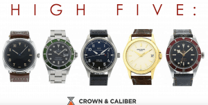 crown and caliber high end watches