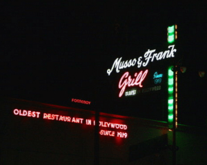Hollywood, CA martini landmark Musso and Frank Grill