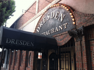 classic martinis in Los Angeles, California at The Dresden