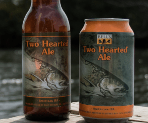 bottle and can of bell's two hearted ale