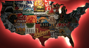 united states of craft beer cutout