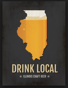 logo of state of IL advertising best microbrews are in the state
