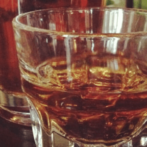 glass of bourbon ready to drink
