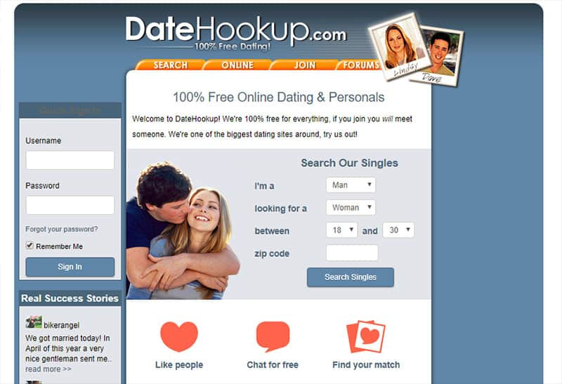 datehookup login investigation