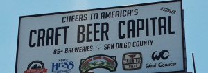 sign proclaiming San Diego, California the Craft Beer Capital