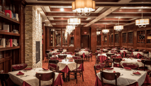 dining room of gene and georgette's steak restaurant