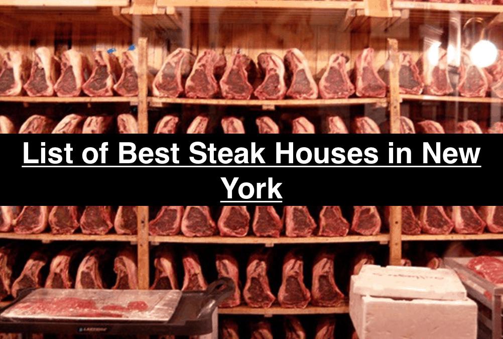 List of Best Steak Houses in New York