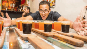 craft beer flight tastings