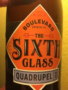 The Sixth Glass Quadrupel from Boulevard Brewing Company Kansas City