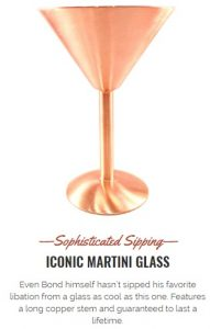 Check out this Amazing Copper Martini Glass from Jacob Bromwell!