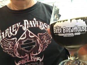 Drinking Ohio Craft Beer in a Harley-Davidson Dealership