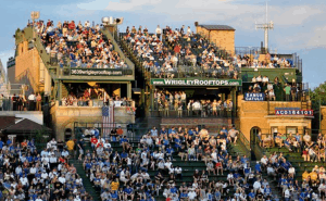 Roof Top Wrigley Field for Watching Cubs Game