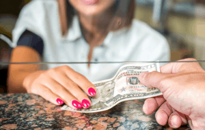 Buying Checks at the Bank