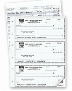 Business Checks with Duplicates and a Check Register
